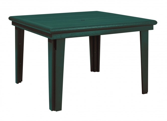 """Generations Green 46"""" Square Dining Table"""