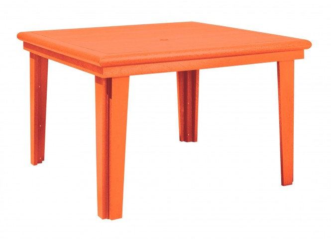 "Generations Orange 46"" Square Dining Table"