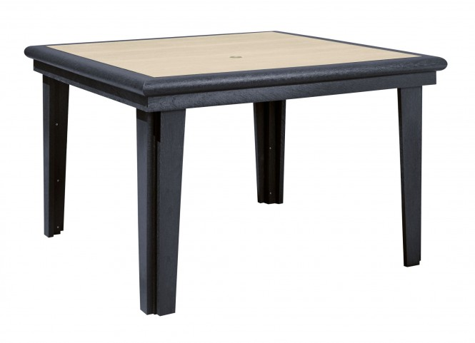 """Generations Beige/Black 46"""" Square Dining Table"""