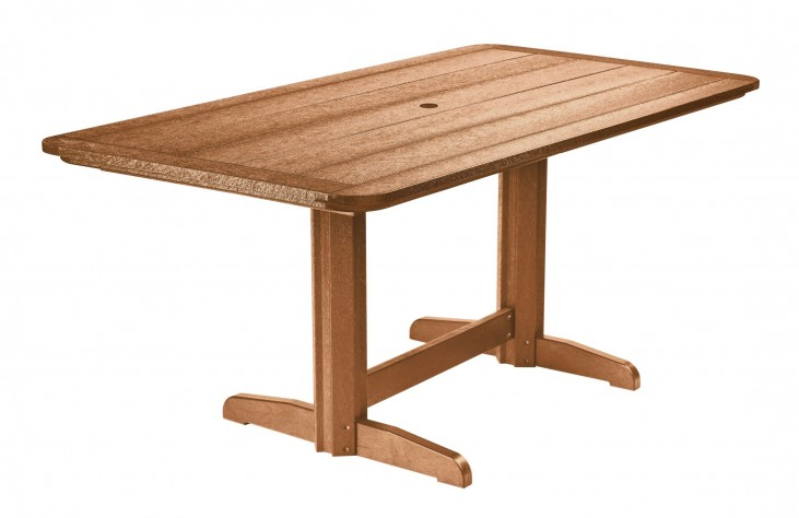 "Generations Cedar 36"" Double Pedestal Dining Table"