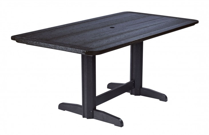 """Generations Black 36"""" Double Pedestal Dining Table"""