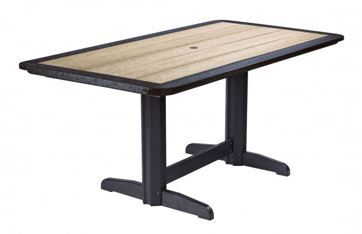 """Generations Beige/Black 36"""" Double Pedestal Dining Table"""