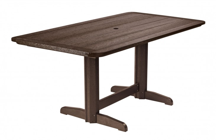 "Generations Chocolate 36"" Double Pedestal Dining Table"
