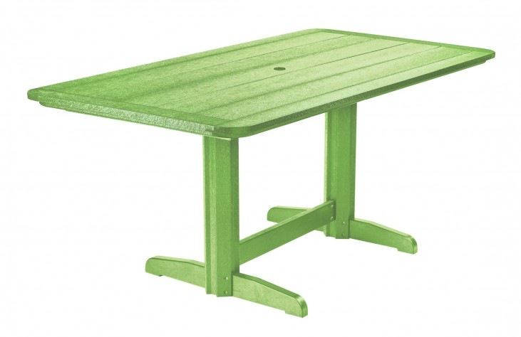 "Generations Kiwi Lime 36"" Double Pedestal Dining Table"
