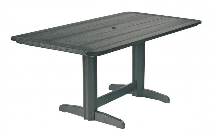 """Generations Slate 36"""" Double Pedestal Dining Table"""