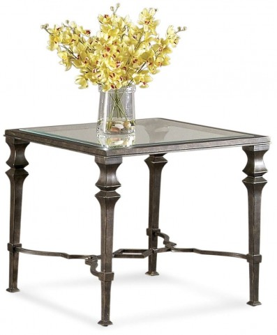 Lido Burnished Bronze Square End Table