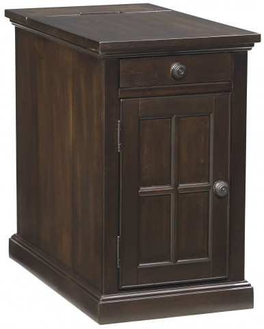 Dark Brown Power Chair Side End Table