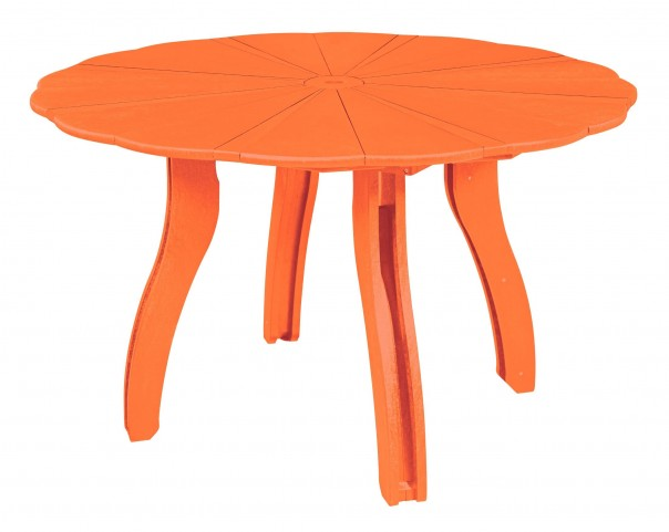 """Generations Orange 52"""" Scalloped Round Dining Table"""