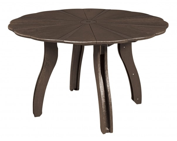 "Generations Chocolate 52"" Scalloped Round Dining Table"