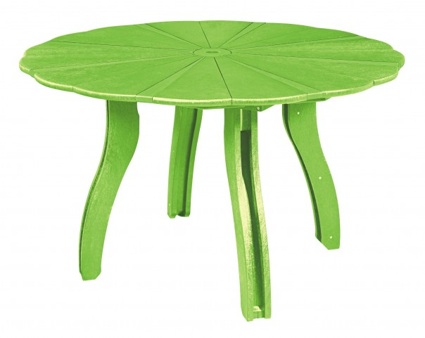 "Generations Kiwi Lime 52"" Scalloped Round Dining Table"