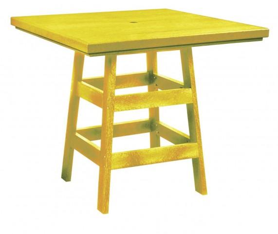 "Generation Yellow 42"" Square Pub Table"
