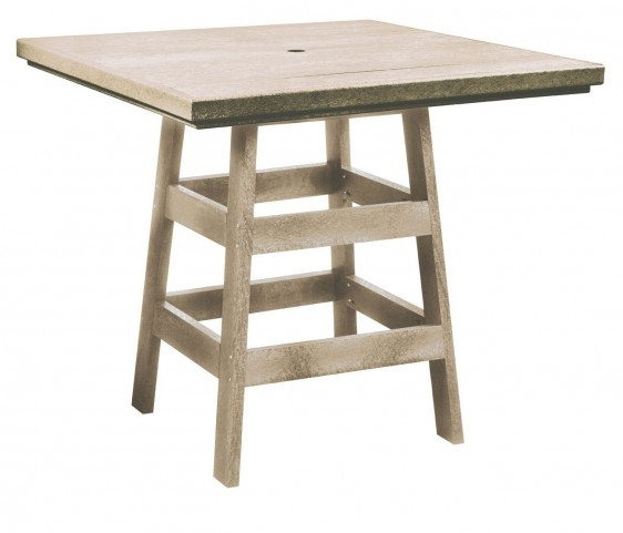 "Generation Beige 42"" Square Pub Table"