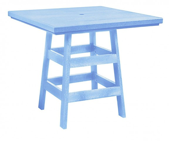 "Generation Sky Blue 42"" Square Pub Table"