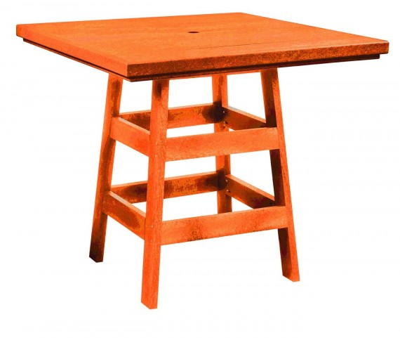 "Generation Orange 42"" Square Pub Table"