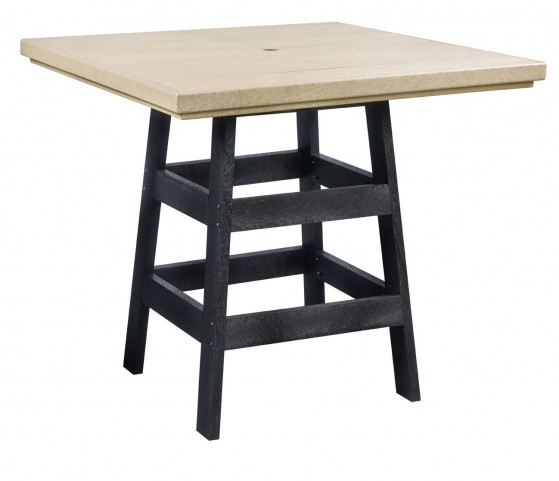 "Generation Beige/Black 42"" Square Pub Table"