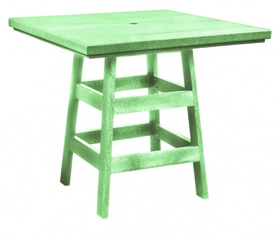 "Generation Lime Green 42"" Square Pub Table"