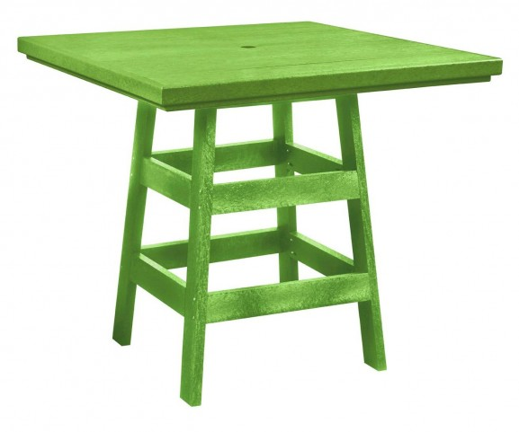 "Generation Kiwi Lime 42"" Square Pub Table"