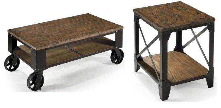 Pinebrook Chairside Door End Table