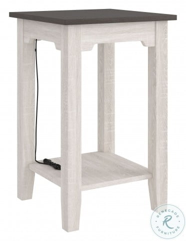 Dorrinson Two Tone Chairside End Table