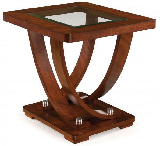 Pavilion Medium Brown Wood Rectangular End Table