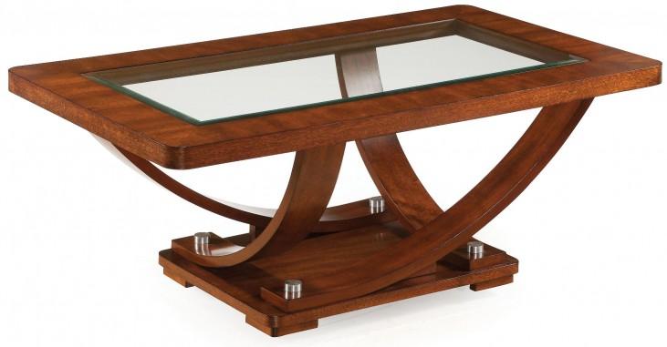 Pavilion Medium Brown Wood Rectangular Cocktail Table