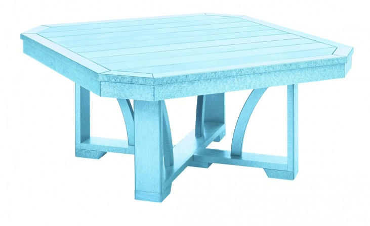 "St Tropez Aqua 35"" Square Cocktail Table"