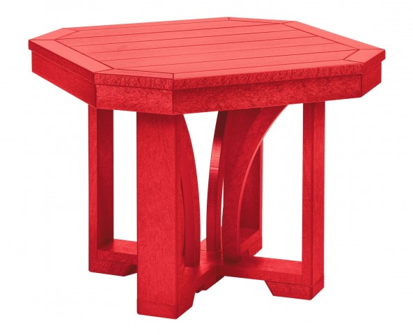 "St Tropez Red 25"" Square End Table"