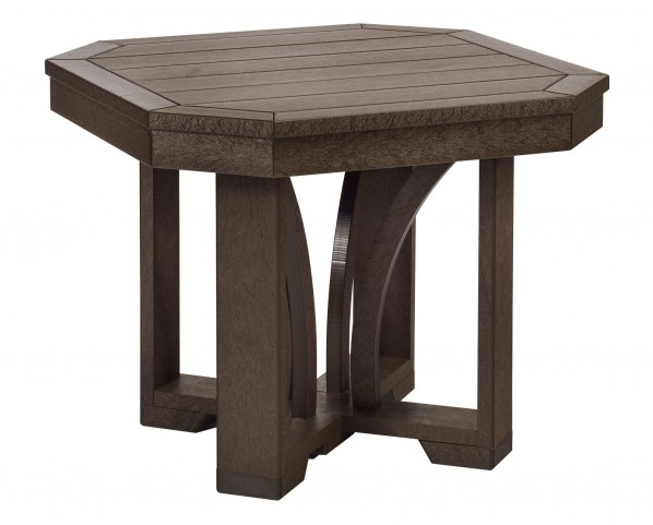 """St Tropez Chocolate 25"""" Square End Table"""