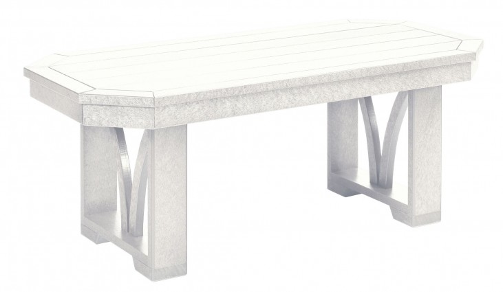 "St Tropez White 42"" Rectangular Cocktail Table"