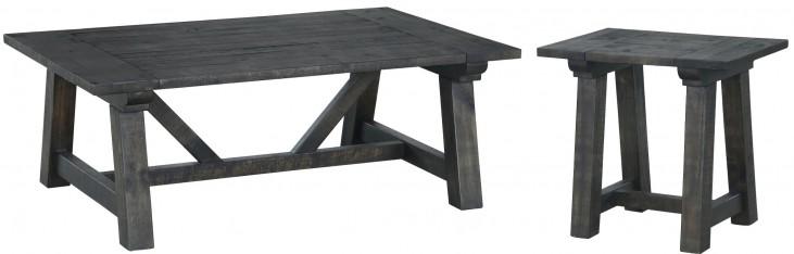 Bridgewater Weathered Charcoal Rectangular Occasional Table Set