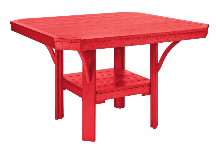 """St Tropez Red 45"""" Square Dining Table"""