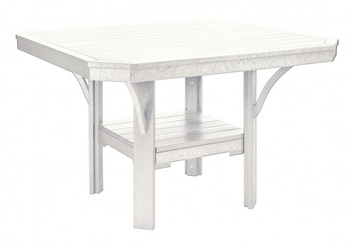 "St Tropez White 45"" Square Dining Table"