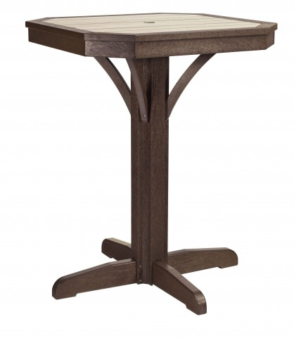 """St Tropez Chocolate 28"""" Square Counter Pedestal Table"""