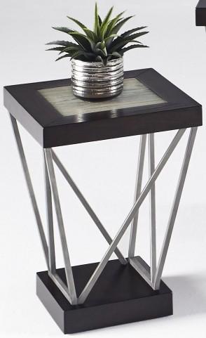 East Bay Woodtone Tile Chairside Table