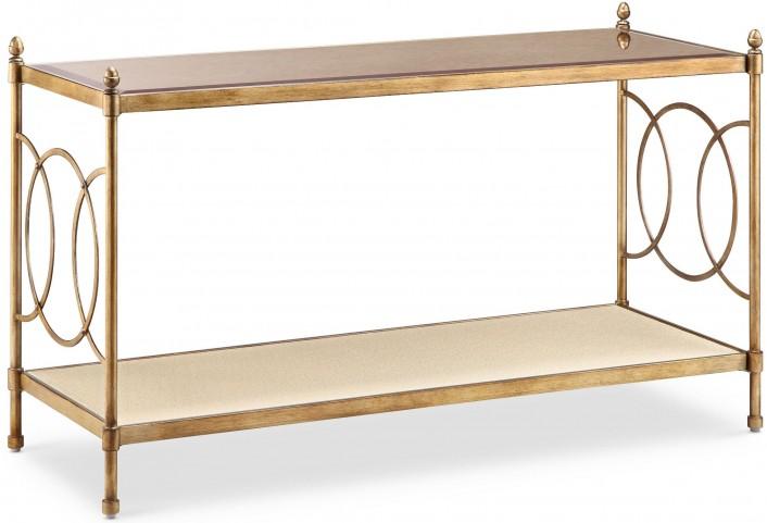 Trey Brushed Bronze Metal Rectangular Sofa Table