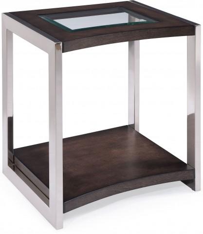 Lynx Graphite Wood Rectangular End Table