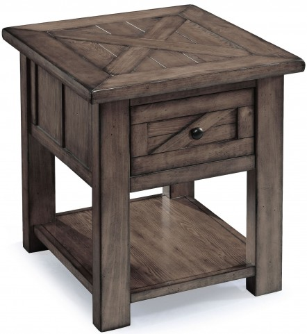 Garrett Weathered Charcoal Wood Rectangular End Table