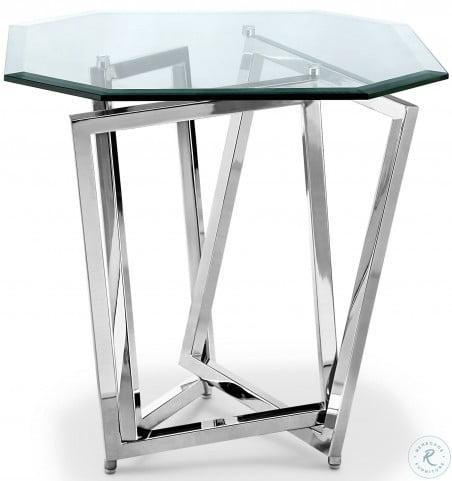 Lenox Square Nickel Octagonal End Table