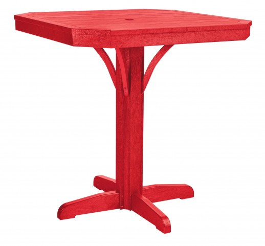 "St Tropez Red 35"" Square Counter Table"