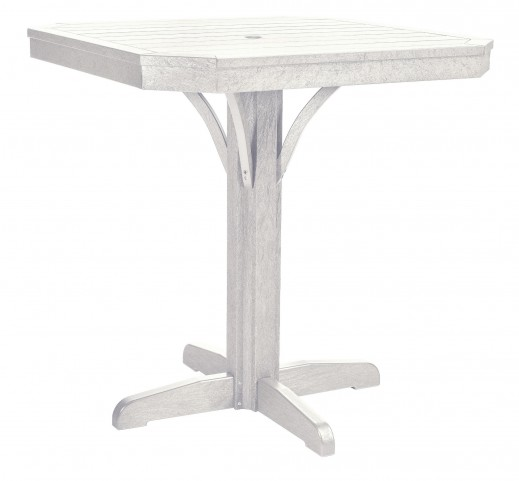 "St Tropez White 35"" Square Counter Table"