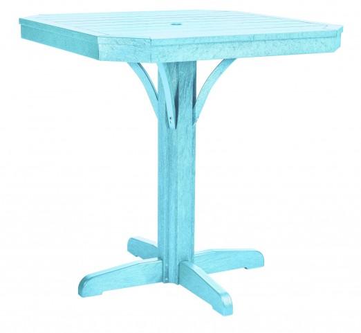"St Tropez Aqua 35"" Square Counter Table"