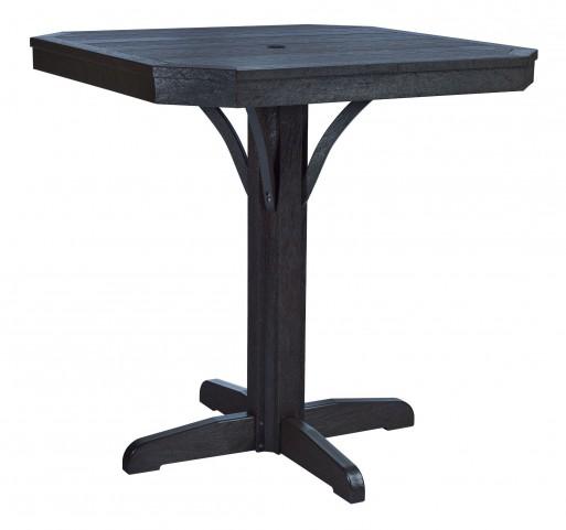 "St Tropez Black 35"" Square Counter Table"