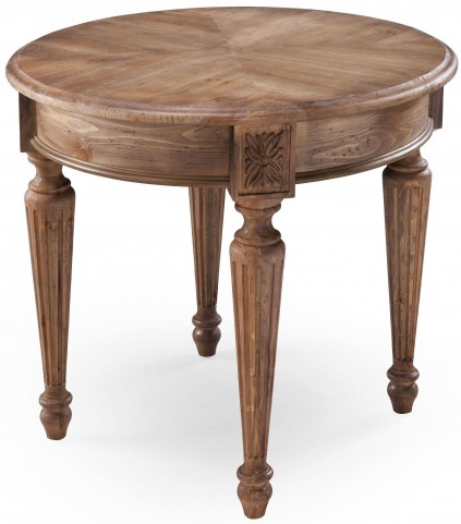 Lloyd Weathered Oat Round End Table