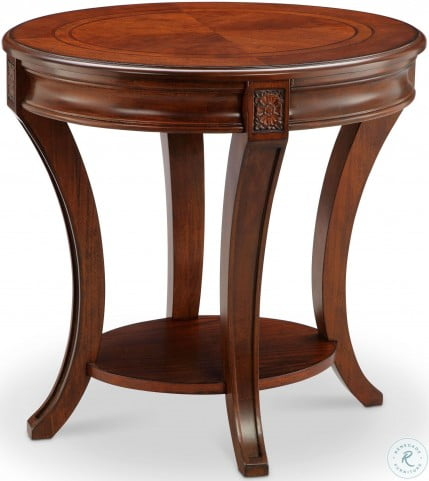 Winslet Cherry Oval End Table