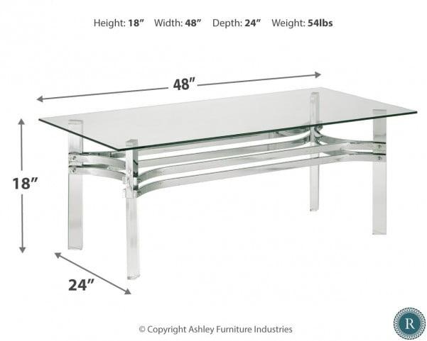 Braddoni Chrome Rectangular Cocktail Table