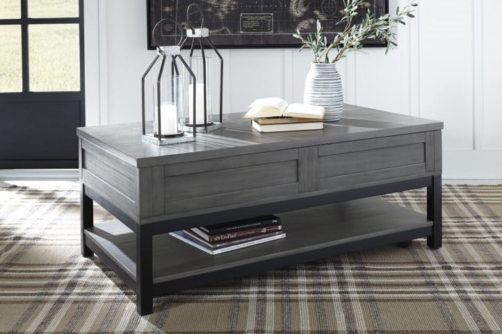 Caitbrook Gray and Black Occasional Table Set