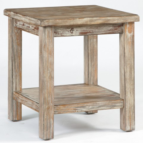 Vennilux Burnished Natural Chairside End Table