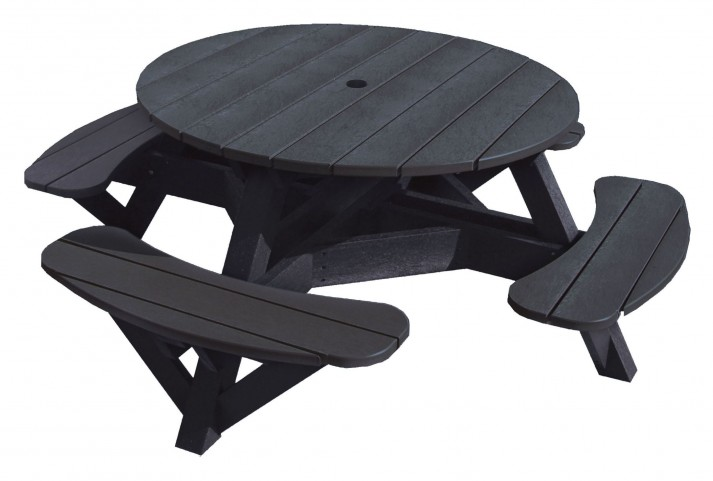 """Generations Black 51"""" Round Picnic Table"""