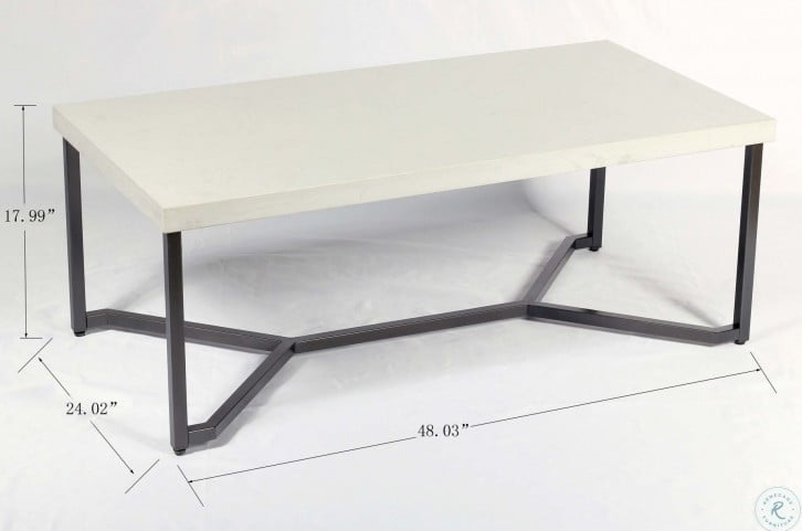 Kiara White And Black 48 Coffee Table From Emerald Home Coleman