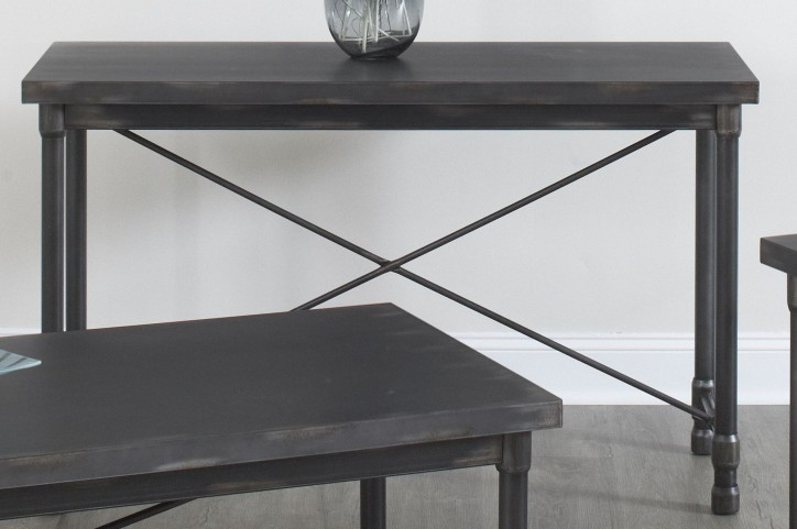 Grand Cosway Worn Black Sofa Table